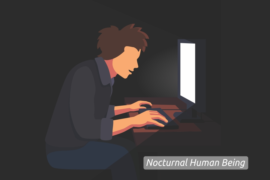 nocturnal human being