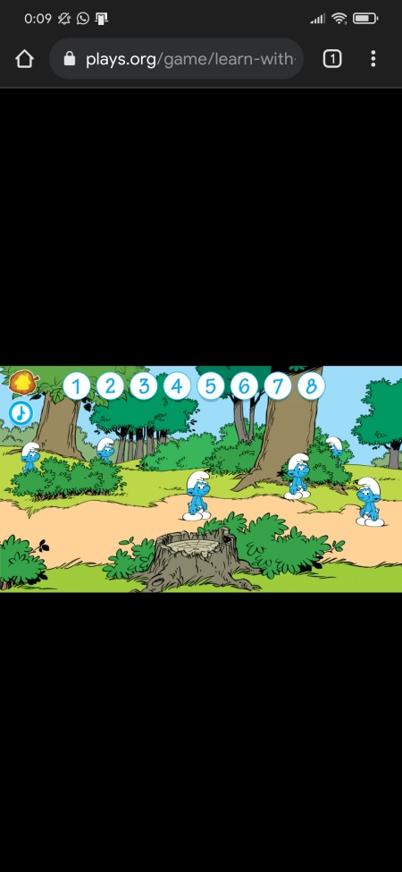 learn with smurfs play